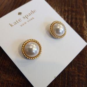 Kate Spade Seaport Faux Pearl Stud Earrings